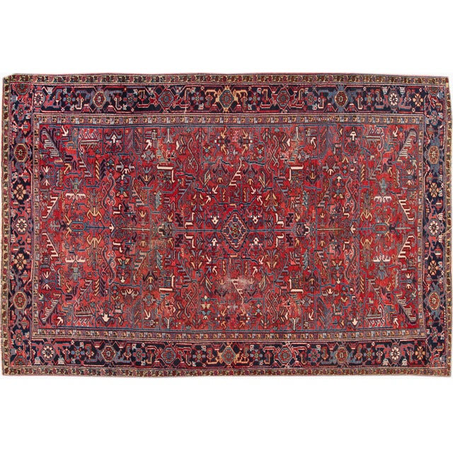 "Vintage Red Apadana Persian Rug - 8'2"" X 12' - Image 1 of 10"