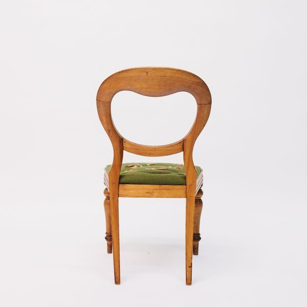 Shield Back Side Chair With Petit Point Seat For Sale - Image 4 of 6