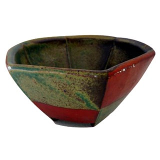 Abstract Ceramic Decorative Bowl