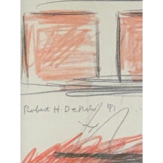 1990s Robert De Niro Sr. Iconic Maxwell Mahogany Bar Sketch For Sale - Image 5 of 7