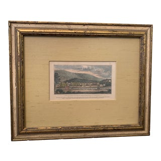 Mid 19th Century Hand-Colored Etching of the Greenbrier, Framed For Sale