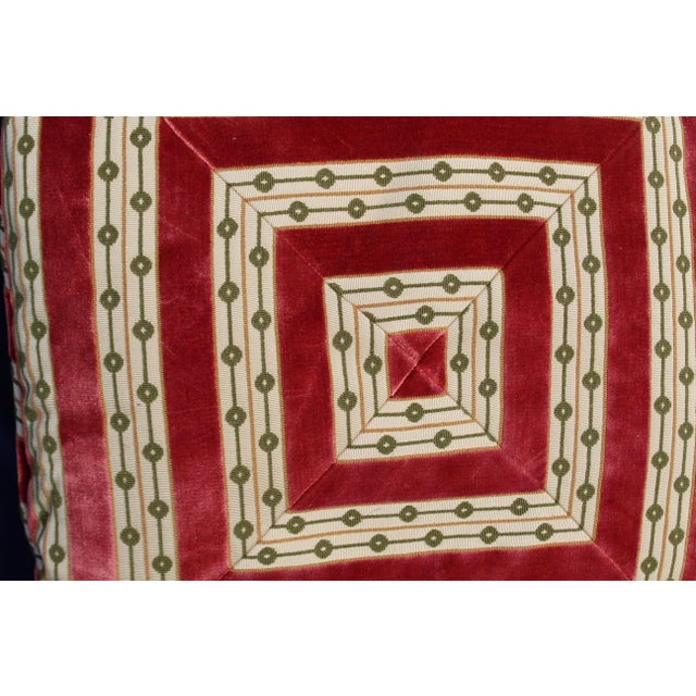 Mid C. Down Filled Possibly Silk Velvet, Unique Pillow For Sale In San Diego - Image 6 of 10
