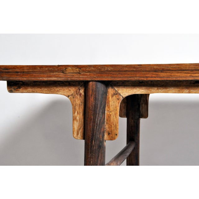 Elm Chinese Painting Table with Round Legs For Sale - Image 7 of 13