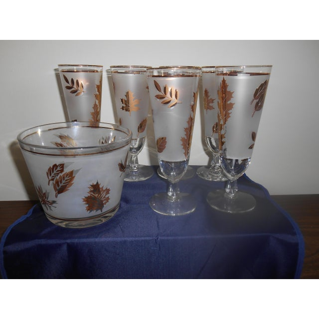 Vintage Libby Pilsner Glasses With Ice Bucket - Set of 7 - Image 2 of 4