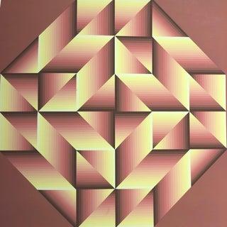 1974 Jürgen Peters Op-Art Silkscreen For Sale