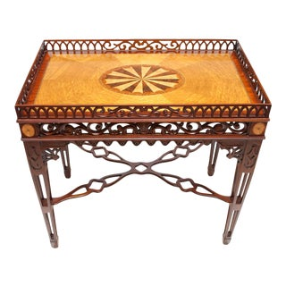 Maitland Smith Chippendale Mahogany Tea Table