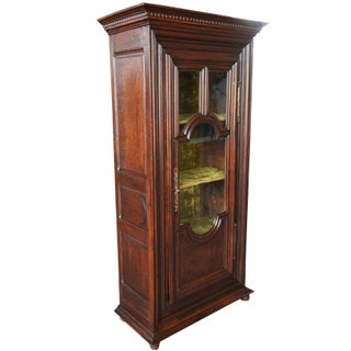 Early 19th Century European Oak Curio Display Cabinet Vitrine Bookcase Preview