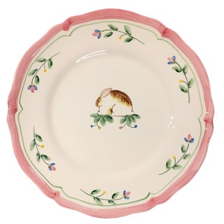 "The Haldon Group ""Provence"" Hand-Painted Dinner Plate"