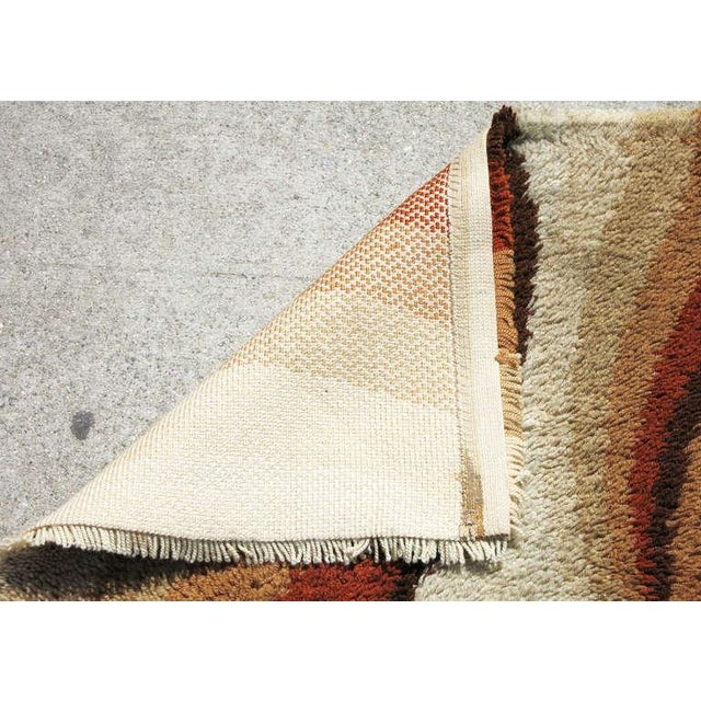 Post Modern Shag Rug with Abstract Design, circa 1970 For Sale - Image 5 of 5