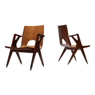 1950s Malatesta and Mason Easy Chairs by Ico Parisi - a Pair For Sale