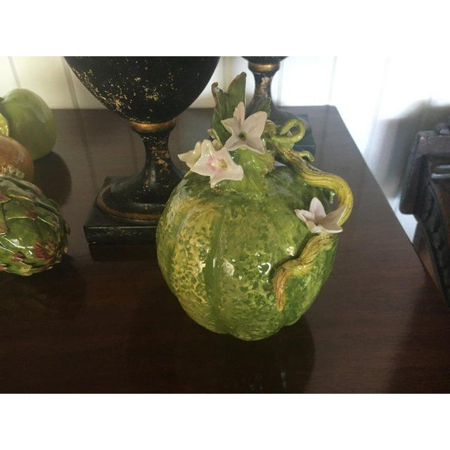 Country Italian Porcelain Vegetables - Collection of 6 For Sale - Image 3 of 8