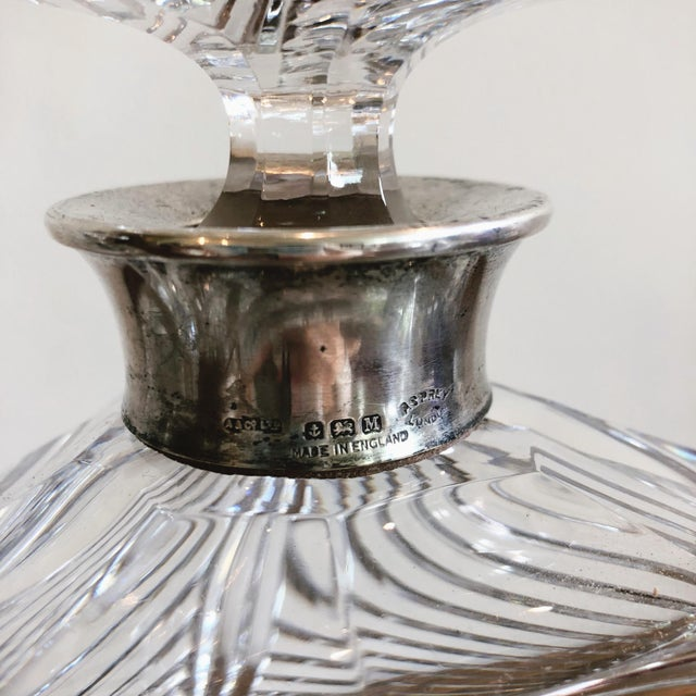 1990s Asprey Crystal Decanters With Sterling Hardware - a Pair For Sale - Image 5 of 13
