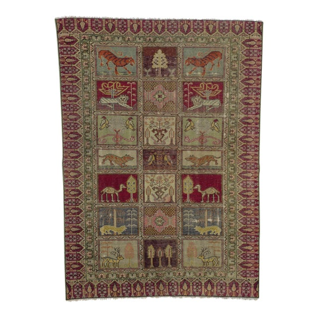 Vintage Decorative Turkish Rug - 4′ × 5′8″ - Image 1 of 6