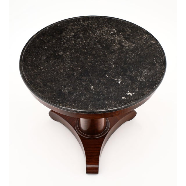 Late 19th Century Gray Marble Topped Empire Style Gueridon For Sale - Image 5 of 10