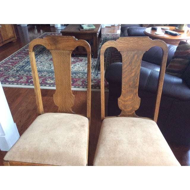 Antique Claw Foot Dining Table & 4 Chairs - Image 3 of 11