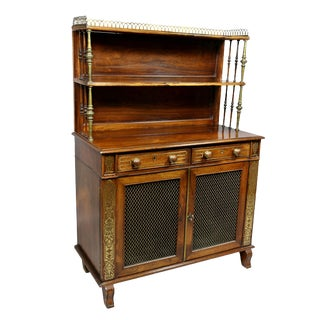 Regency Rosewood and Brass Inlaid Credenza For Sale
