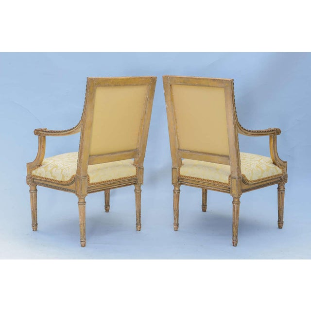 Pair of Early 19th Century Louis XVI Fauteuils For Sale - Image 4 of 10