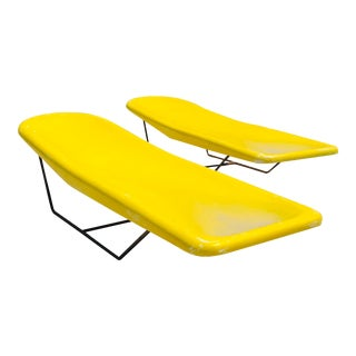 1960s Space Age Modern Fibrella Surfboard Lounge Chairs - a Pair For Sale