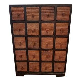 Antique Teak Apothecary Cabinet For Sale