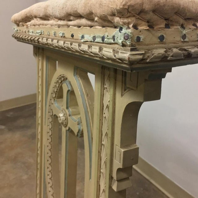 19th Century Italian Neoclassical Painted Prayer Kneeler - Prie Dieu For Sale - Image 9 of 11