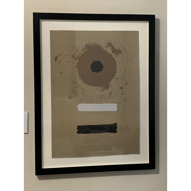 Original pencil signed and numbered lithograph by Adolph Gottlieb (American, 1903-1974), one of the founders of abstract...
