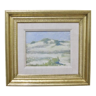 Early 20th Century Antique Edmund Greacen Cape Cod Seascape Painting For Sale