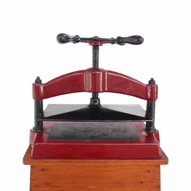 Early 20th Century Heavy Antique Cast Iron Book Press For Sale - Image 5 of 8