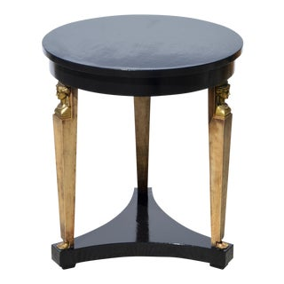 Neoclassical Ebonized Side / End Table by Baker Furniture
