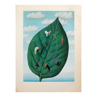"""1972 Rene Magritte, """"The Third Dimension"""" Original Photogravure For Sale"""