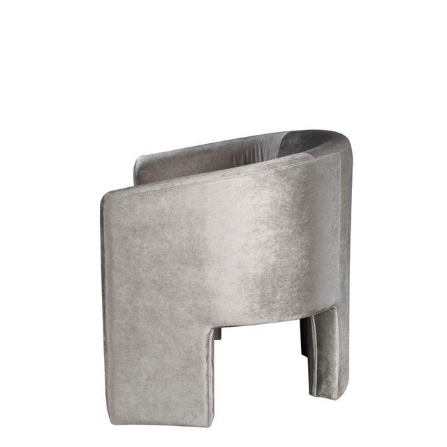 Contemporary Leblon Barrel Chair in Gray For Sale - Image 3 of 5