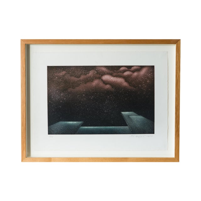 1977 Signed Abstract Lithograph - Image 1 of 7