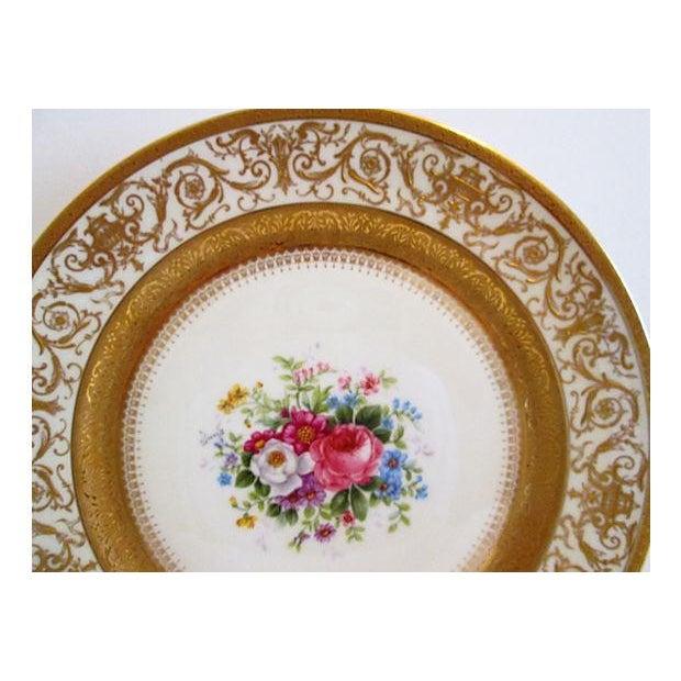 European Gilded Dinner Plates - Set of 4 - Image 4 of 8