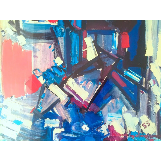 """1960s Hans Hofmann Rare Vintage 1968 Mid Century Modern Abstract Expressionist Framed Collector's Lithograph Print """" Exuberance """" 1955 For Sale - Image 5 of 13"""