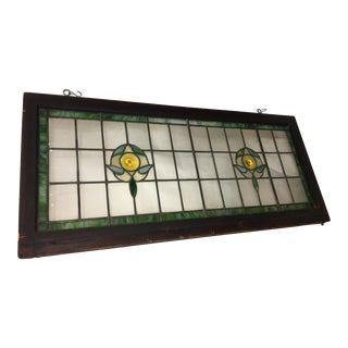 Victorian Stained Glass Window Transom