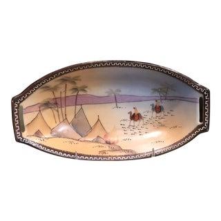 Desert Scene Oblong Display Bowl