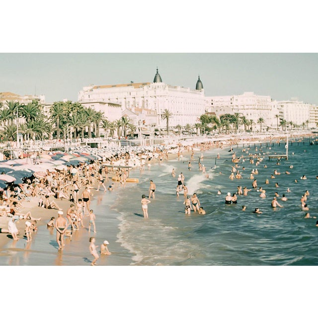 A classic beach photograph, this photo was taken in Cannes, France in the 1960s. The Lyon + Finch Found Artwork Collection...