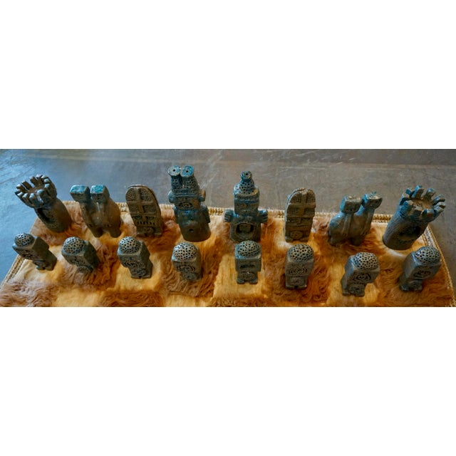 Oversized Ceramic Chess Set For Sale - Image 4 of 11