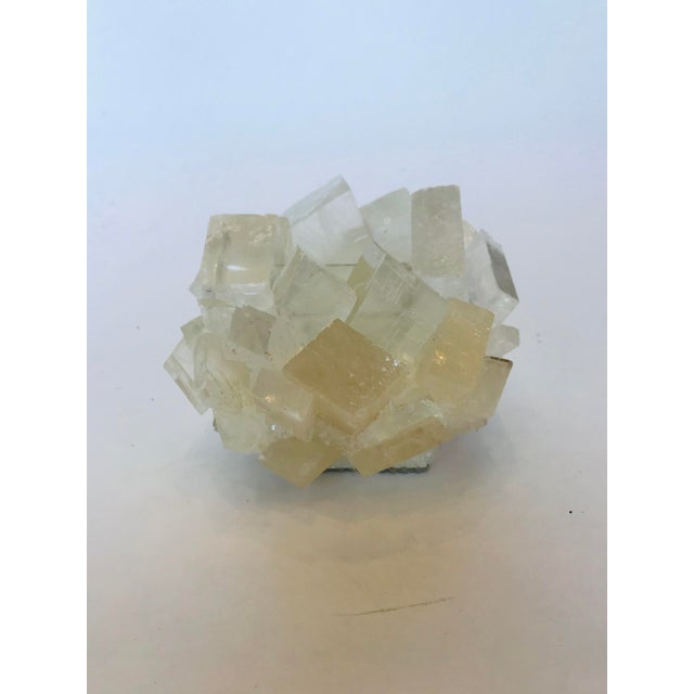 Add some healing nature with this beautiful handcrafted white calcite tea light candle holder made my Kathryn McCoy