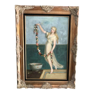 19th Century Pre-Raphaelite Impressionist London Oil Painting For Sale
