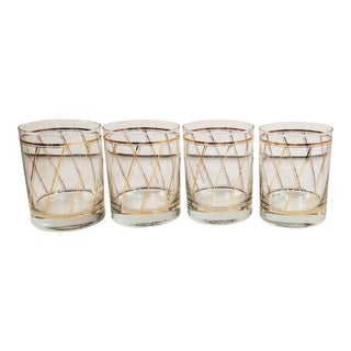 Vintage Georges Briard Lowball Glasses Barware - Set of 4 For Sale