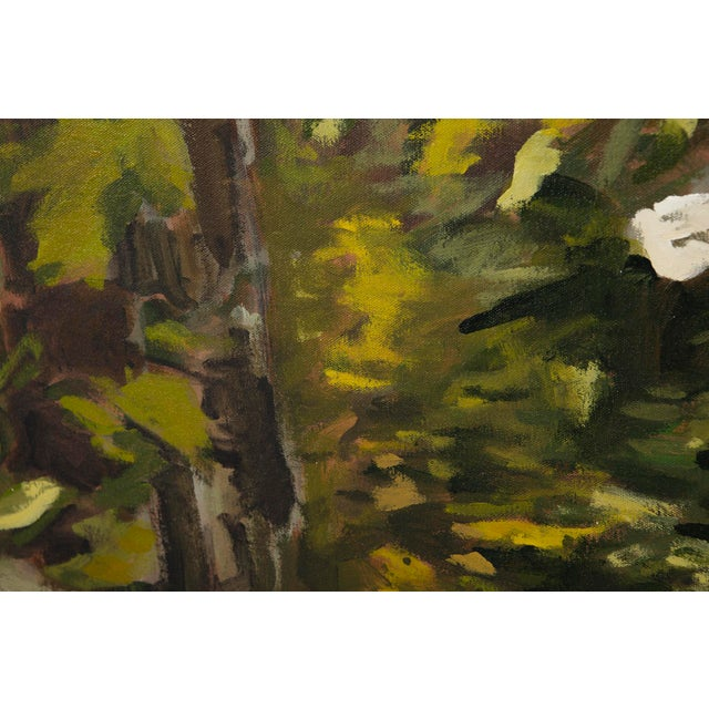 "Abstract Slater Sousley, ""The Woods Beckon"" Painting For Sale - Image 3 of 9"
