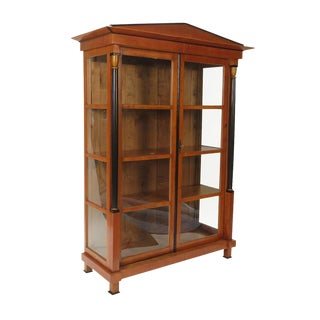 Early 19th Century Austrian Biedermeier Style Bookcase Cabinet For Sale