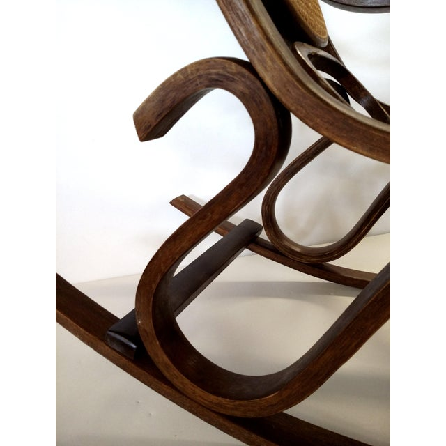 Thonet-Style Cane & Bentwood Rocker For Sale - Image 5 of 10
