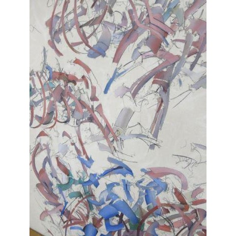 Abstract Expressionism Peter Bardazzi Abstract Acrylic & Charcoal on Canvas, Signed & Dated 1972 For Sale - Image 3 of 6