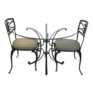 1960s Mid-Century Modern Thinline Dining Set - 3 Pieces For Sale