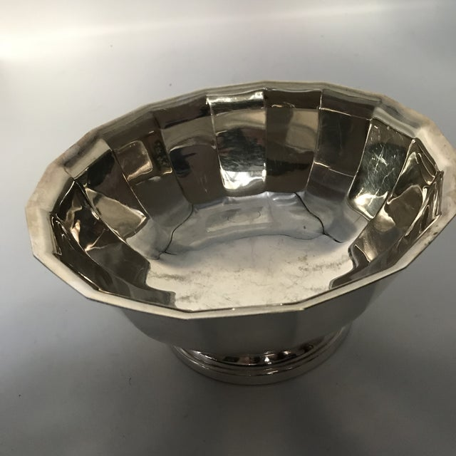 Vintage Gorham Fluted Silve Plate Bowl For Sale In New York - Image 6 of 8