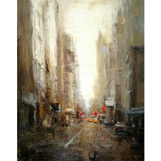"""Beckham Oil Painting, """"Nyc"""", 8 X 10 In. Oil on Panel For Sale"""