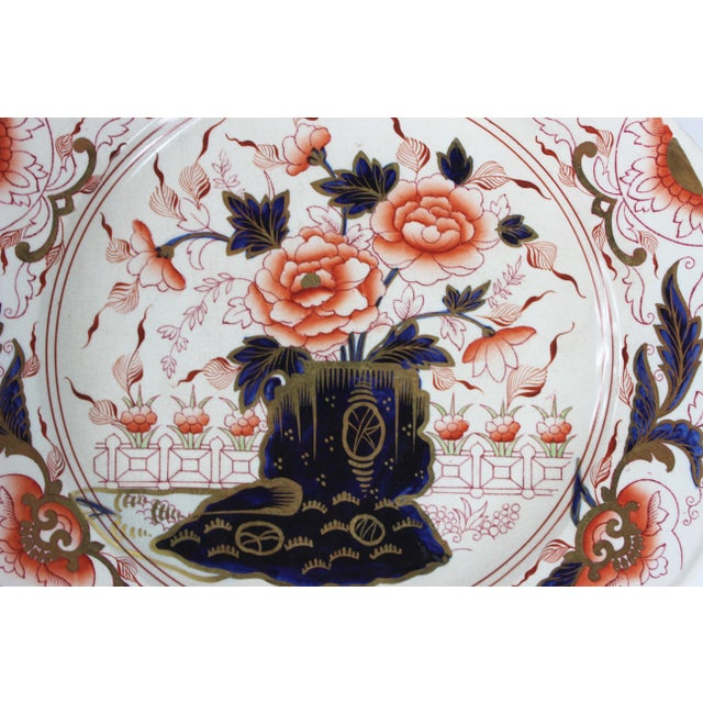 Imari Porcelain 19th Century English Imari Dessert/ Salad Plates - Set of 12 For Sale - Image 4 of 8