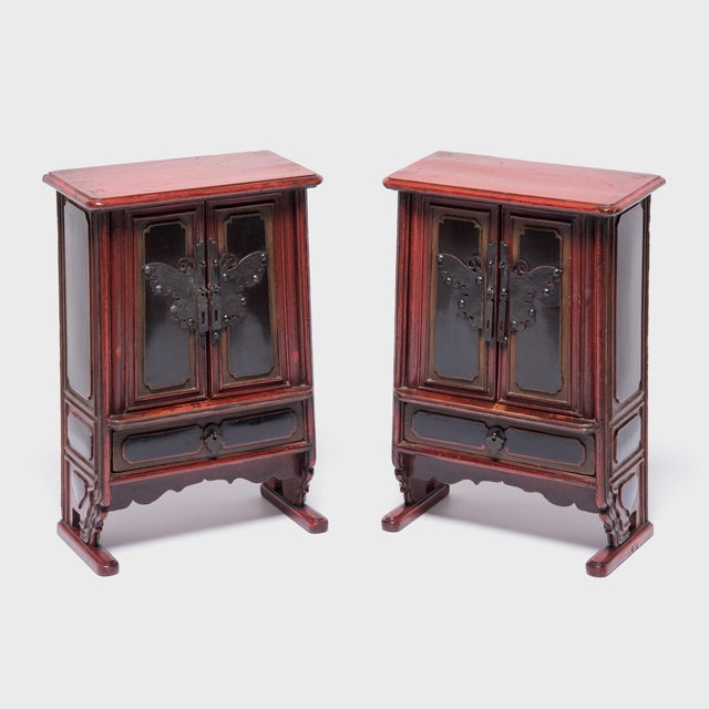 Petite Butterfly Jewelry Chests - a Pair For Sale - Image 10 of 10
