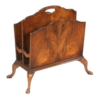 Queen Anne Style Walnut 2-Section Canterbury For Sale